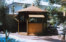 Gazebo with walls and shutters